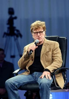 Robert Redford at 3GSM in Barcelona