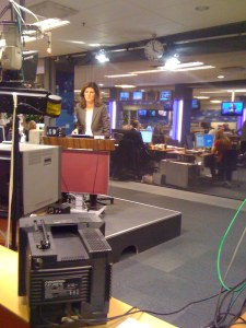 live news broadcast at SVT
