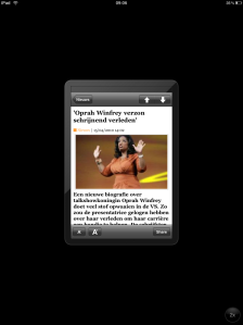 De Standaard iPhone App on iPad