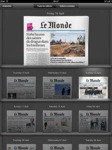 Le Monde iPad App Rackspace