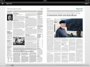 Le Monde iPad App Double Page View