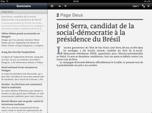 Le Monde iPad App Article Details