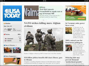 USA Today iPad App Home Page