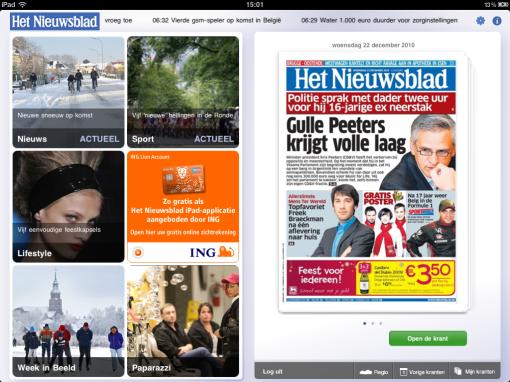 Het Nieuwsblad iPad app